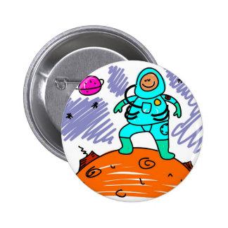 Niño del astronauta chapa redonda 5 cm