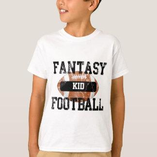 Niño del fútbol de la fantasía camiseta