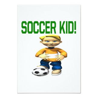 Niño del fútbol invitación
