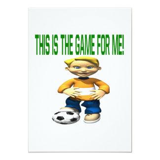 Niño del fútbol invitación 12,7 x 17,8 cm