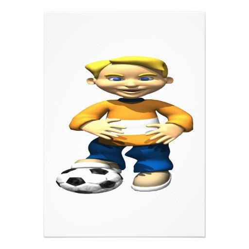 Niño del fútbol comunicado personalizado