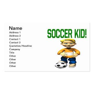 Niño del fútbol tarjetas de visita