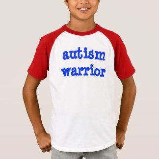 Niño del guerrero del autismo camiseta