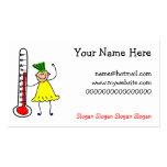 Niño del termómetro tarjeta personal
