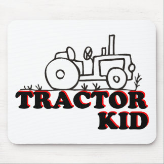 Niño del tractor alfombrilla de ratón