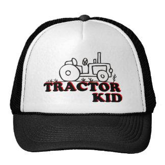 Niño del tractor gorros