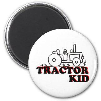Niño del tractor imán redondo 5 cm