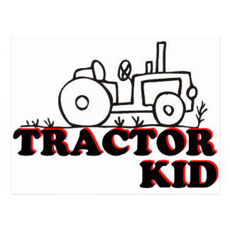 Niño del tractor postal