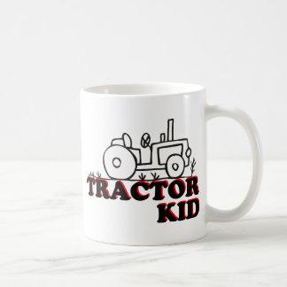 Niño del tractor taza básica blanca