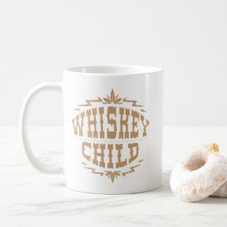 NIÑO del WHISKY - logotipo de la cosecha de la Taza De Café