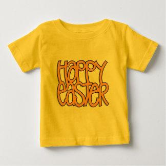 Niño feliz del naranja de Pascua Camiseta