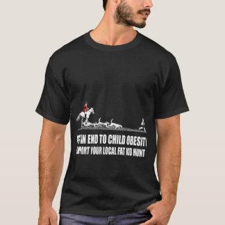 Niño gordo loco, ofensivo camiseta