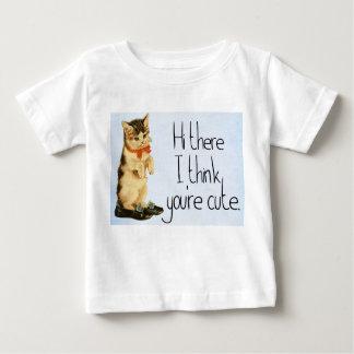 """Niño """"hola allí, pienso que usted es"""" camiseta"""