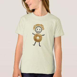 Niño judío del panecillo de los T-Camisa-Chicas- Camiseta
