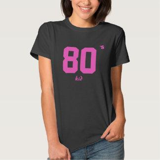 Niño negro de los años 80 de las mujeres camisetas