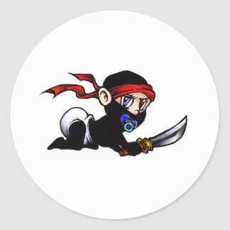 Niño Ninjutsu de Ninja del bebé Etiquetas Redondas