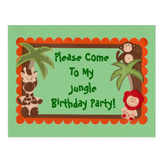 Niño o ducha adolescente del cumpleaños de Jaguar Postal