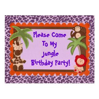 Niño o ducha adolescente del cumpleaños de Jaguar Postales