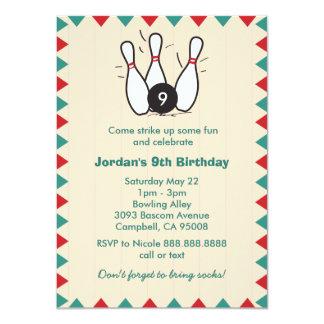 Niño o fiesta de cumpleaños retra de los bolos de invitación 11,4 x 15,8 cm