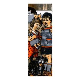 Niño pequeño y chica holandeses plantilla de tarjeta de negocio