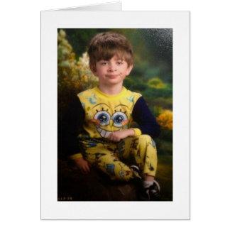 Niño Pissed del pijama Tarjeta De Felicitación
