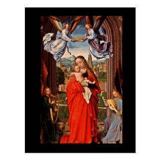 Niño y ángeles de Madonna Cristo Postal