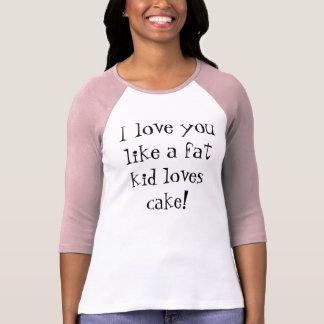 Niño y torta gordos camisetas