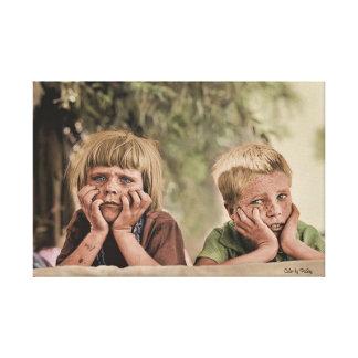 Niños 1936 del refugiado de Oklahoma Impresión En Lienzo