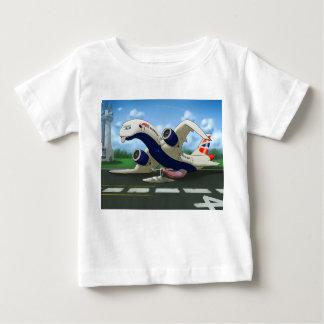 Niños agotados de British Airways del hangar de Camiseta De Bebé
