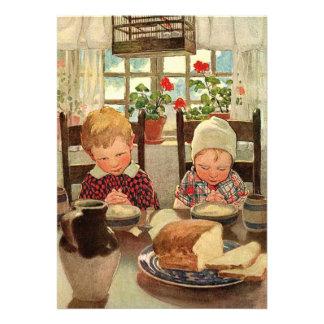 Niños agradecidos del vintage Jessie Willcox Smit Anuncio
