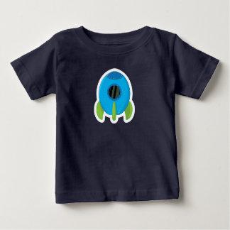 Niños azules lindos del bebé de la camiseta de la