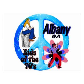 Niños de Albany de los años 70 Postal