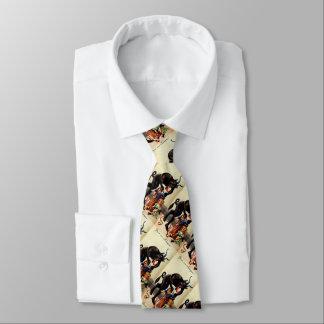 Niños de Krampus en corbata del navidad del día de
