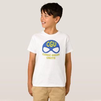 Niños de la camisa del logotipo de la máscara de