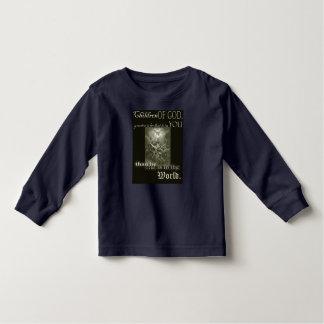 Niños de la camiseta larga de la manga del niño de