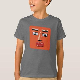 Niños de la cara V1 del robot Camiseta