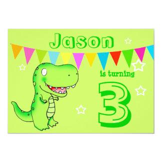 niños de la fiesta de cumpleaños del dinosaurio de invitación 12,7 x 17,8 cm