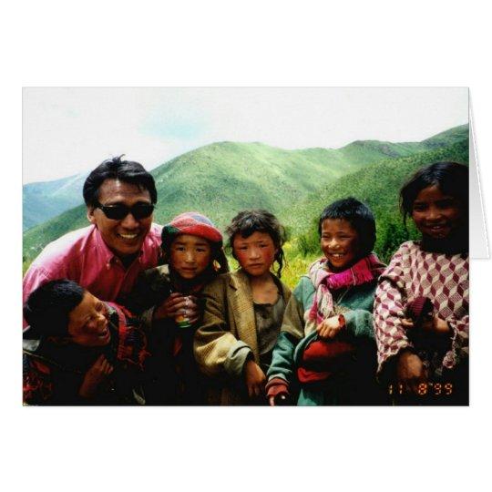 Niños de la fundación de la confianza de Tíbet Tarjeta De Felicitación