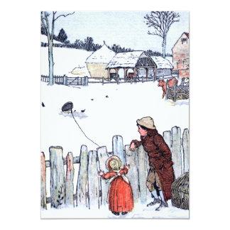 Niños de la granja del vintage invitación 12,7 x 17,8 cm