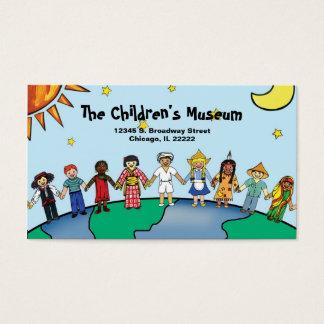 Niños de la tarjeta del perfil del mundo