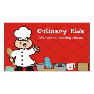 Niños del cocinero del muchacho de Kawaii que Plantilla De Tarjeta De Negocio