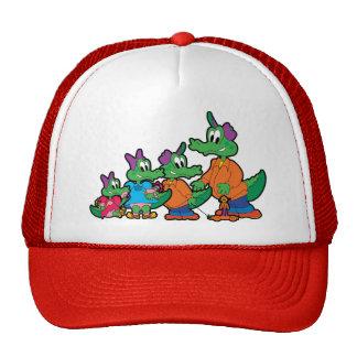 Niños del cocodrilo gorras de camionero