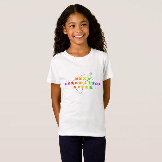 Niños del color del jinete de la generación camiseta
