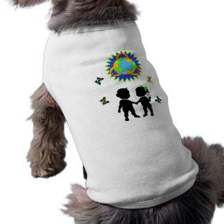 Niños del Día de la Tierra Camiseta Sin Mangas Para Perro