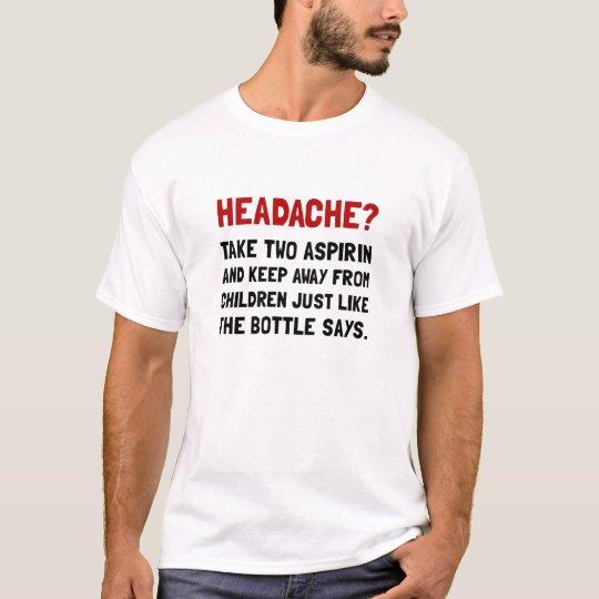 Niños del dolor de cabeza camiseta