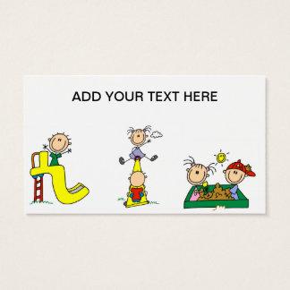 Niños del palillo en las tarjetas de visita del