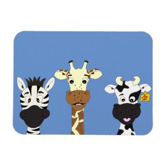 Niños divertidos del dibujo animado de la vaca de imán