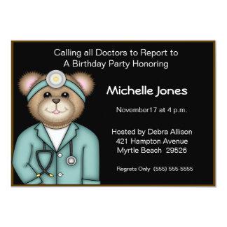 Niños/el doctor adulto Invitations Invitación 12,7 X 17,8 Cm