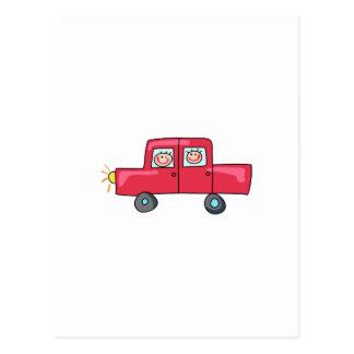 NIÑOS EN AUTOMOBLIE TARJETA POSTAL