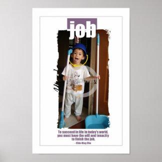 Niños en el poster del trabajo póster